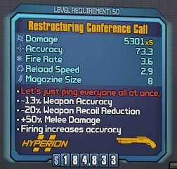 Borderlands 2 - Restructuring Conference Call