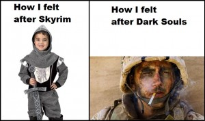 Dark Souls VS Skyrim lol